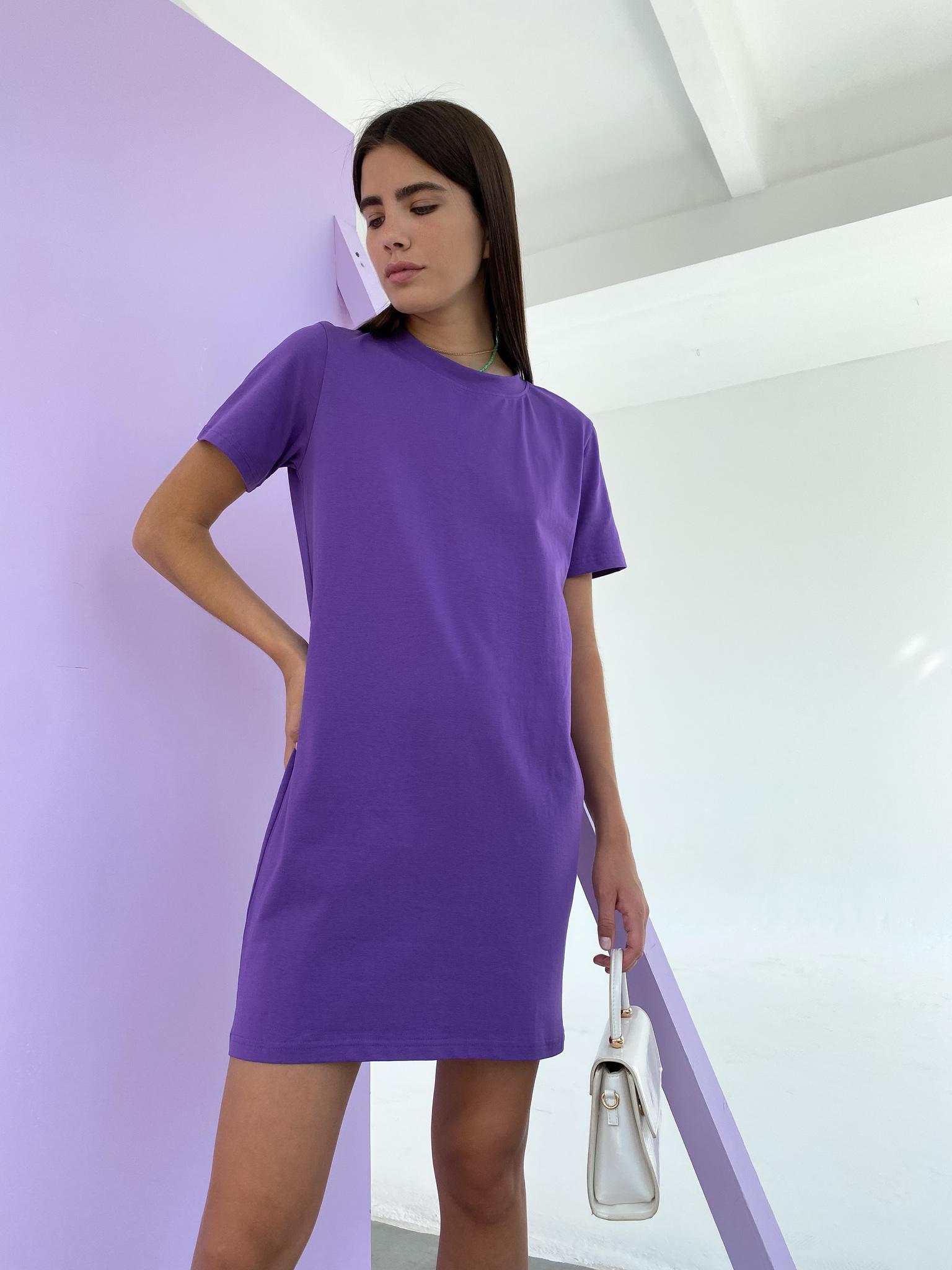 Платье-футболка (фиолетовый)