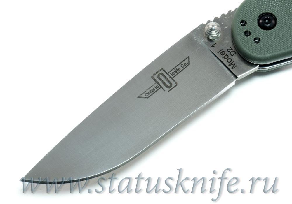 Нож Ontario Rat 1 D2 8867OD зеленый - фотография