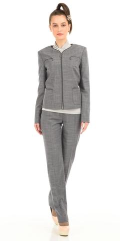 Фото серые брюки со стрелками классического стиля с хорошей посадкой - Брюки А413-110 (1)