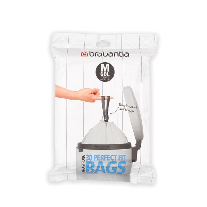 Мешки для мусора PerfectFit, размер M (60 л), упаковка-диспенсер, 30 шт., арт. 126949 - фото 1
