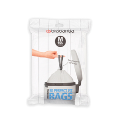 Мешки для мусора PerfectFit, размер M (60 л), упаковка-диспенсер, 30 шт.