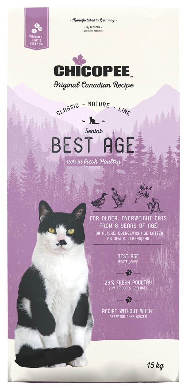 Купить корм CHICOPEE CNL Cat Senior Best Age Poultry для пожилых кошек