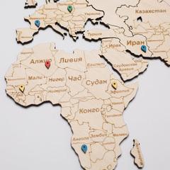 Карта Мира из дерева White фото 3