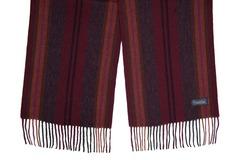 Шерстяной шарф, мужской бордовый полосатый 31081