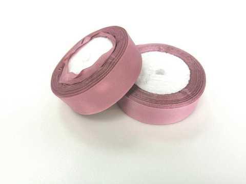 Лента репсовая 2,5см (темно-розовая пенка №041)