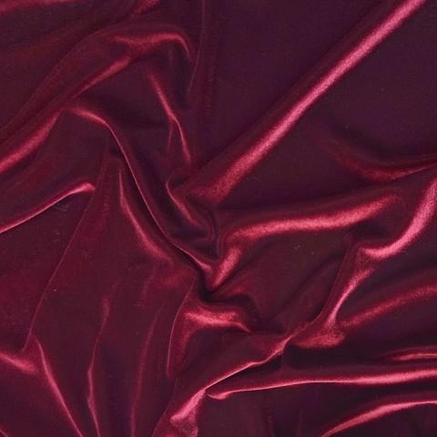 Ткань велюр вишневый 3077