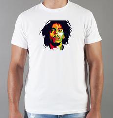 Футболка с принтом Боб Марли (Bob Marley) белая 008