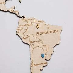 Карта Мира из дерева White фото 4