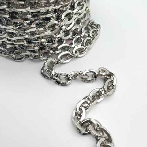 Цепь металлическая 11*13 мм, под никель (цена за 1 м)