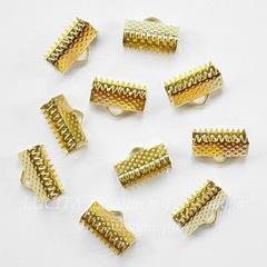 Концевик для лент 13 мм (цвет - золото), 10 штук