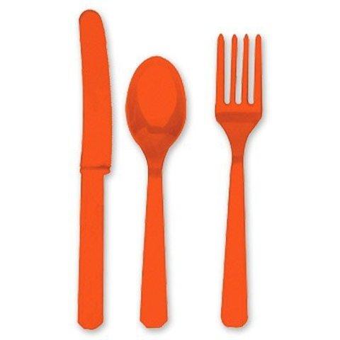 Столовые приборы пласт Orange Peel 24штA