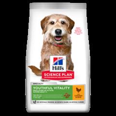 Корм для собак мелких пород старше 7 лет Hill`s Science Plan Youthful Vitality Mini, для борьбы с возрастными изменениями, с курицей и рисом