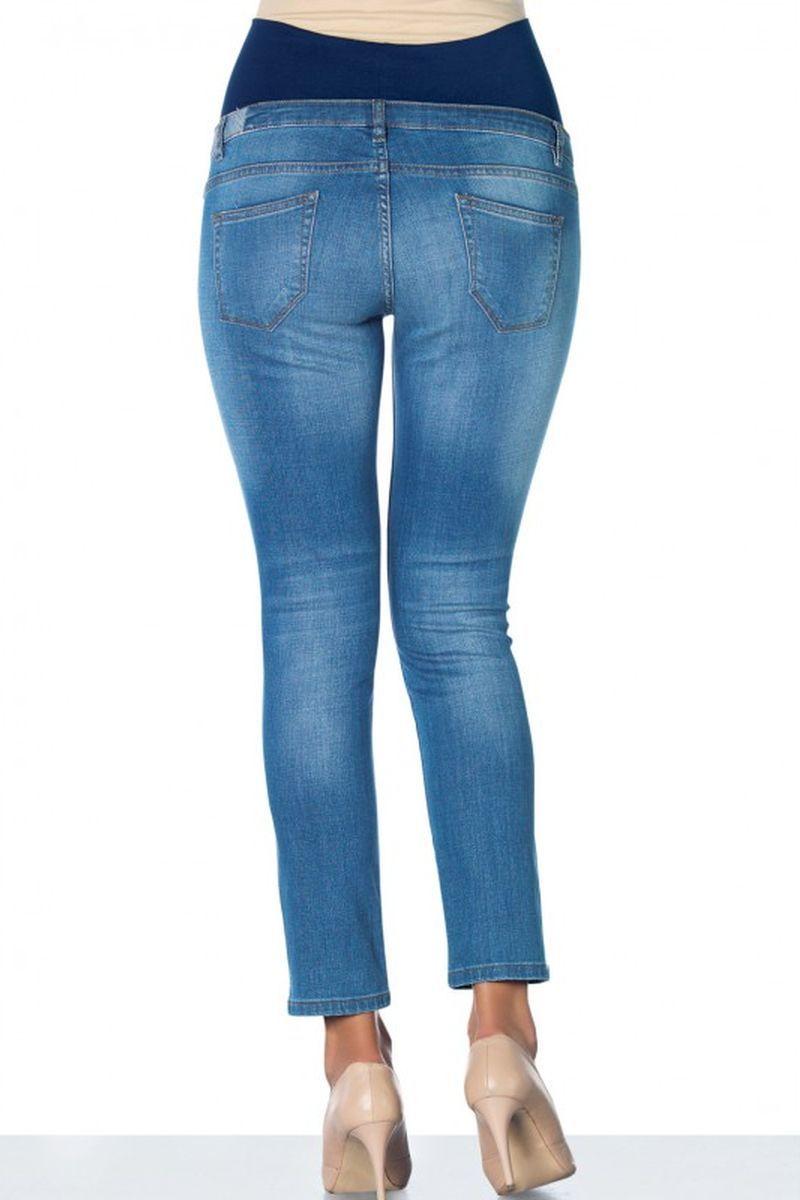 Фото джинсы для беременных EBRU, зауженные, бандаж, потертости,