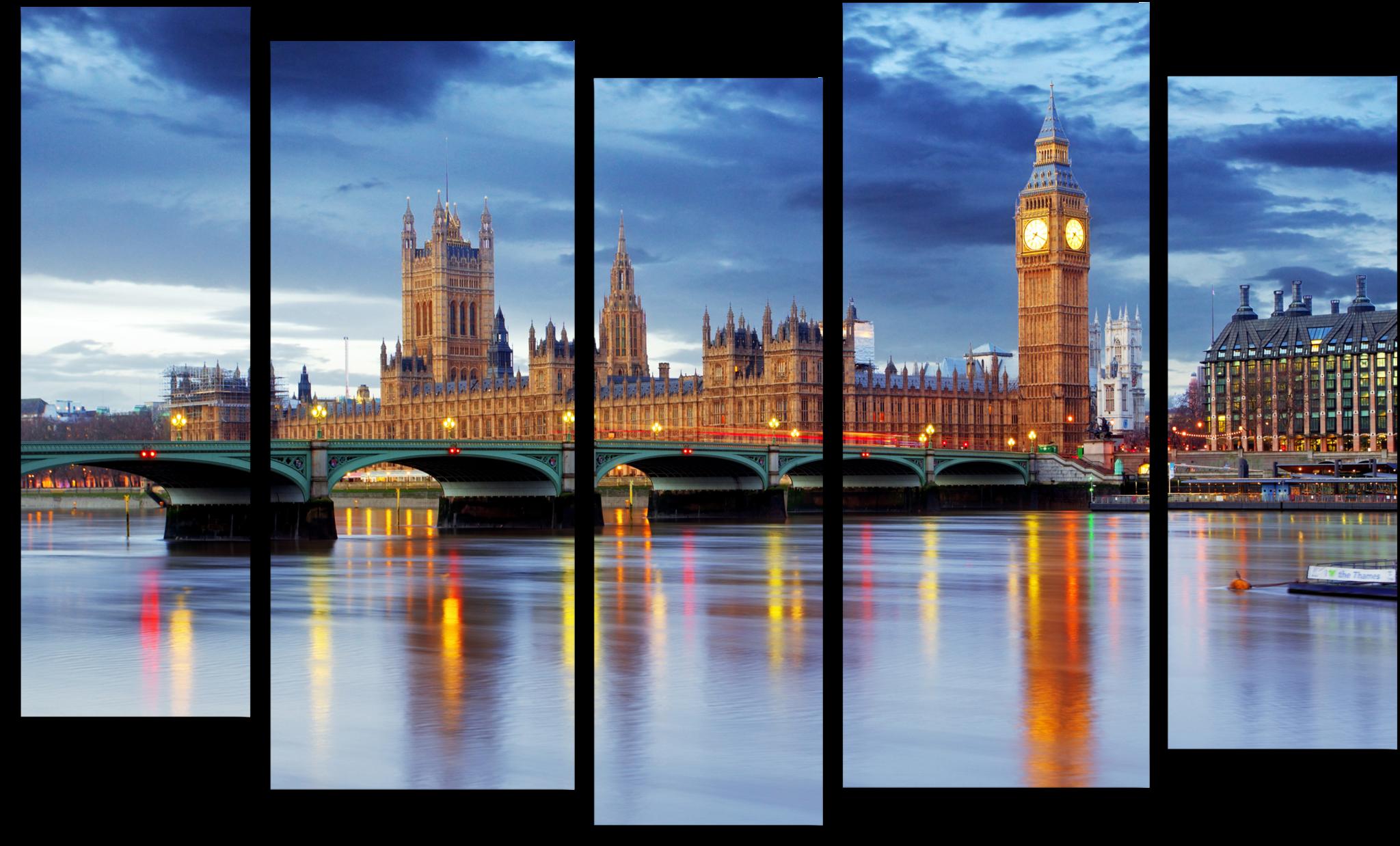 """Модульные картины Модульная картина """"Лондон"""" М90.png"""