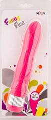 Розовый водонепроницаемый вибратор - 21,5 см.