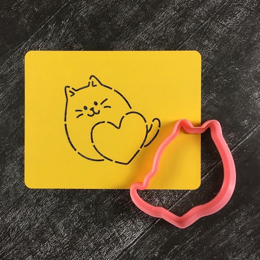 Кот с сердцем №4