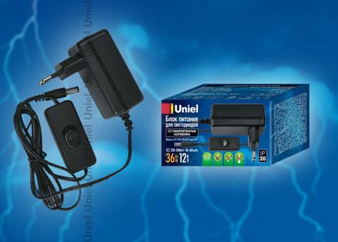UET-VPA-036A20 Блок питания для светодиодов с вилкой, 36 Вт, 12В, IP20