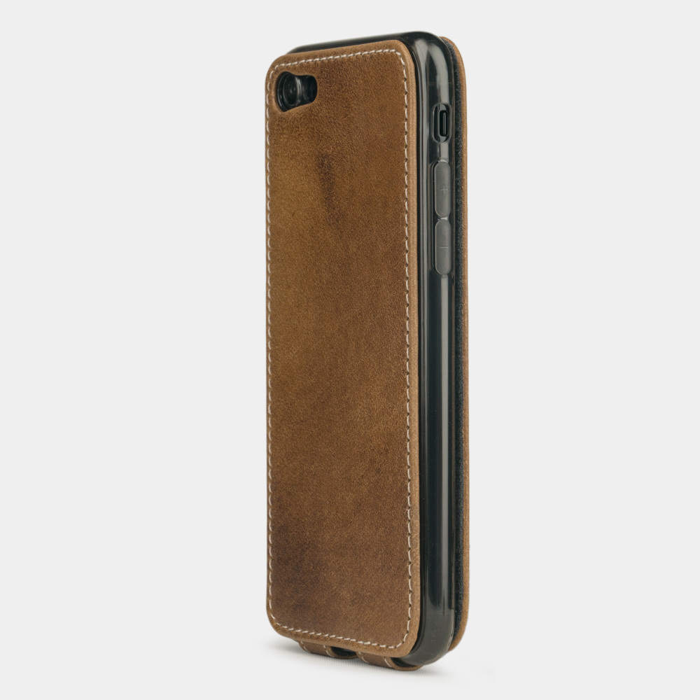 Чехол для iPhone 7 из натуральной кожи теленка, цвета винтаж