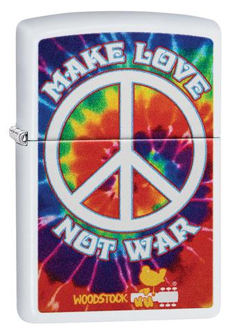 Зажигалка Zippo Woodstock с покрытием White Matte, латунь/сталь, белая, матовая, 36x12x56 мм123
