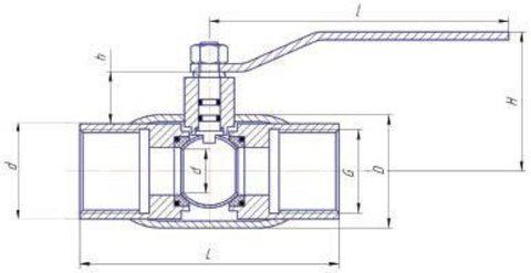 Конструкция LD КШ.Ц.М.GAS.040.040.Н/П.02 Ду40
