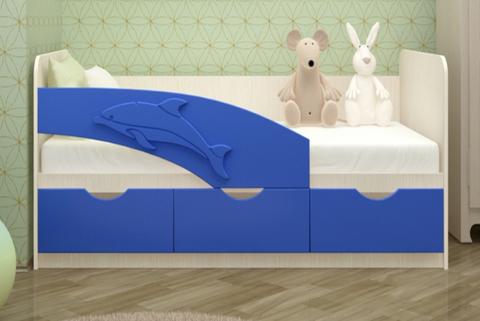 Кровать Дельфин синий мат.