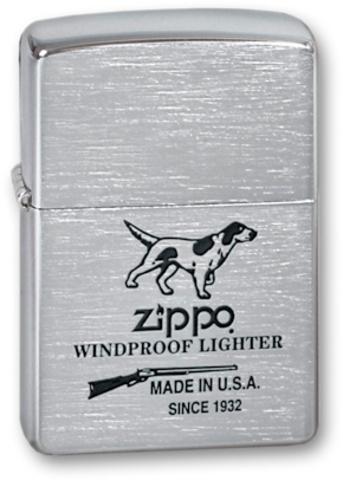 Зажигалка ZIPPO Classic Brushed Chrome™ ZP-200 Hunting Tools