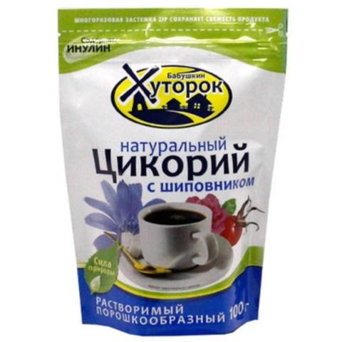 Напиток цикорий ХУТОРОК Шиповник 100 гр ДП РОССИЯ