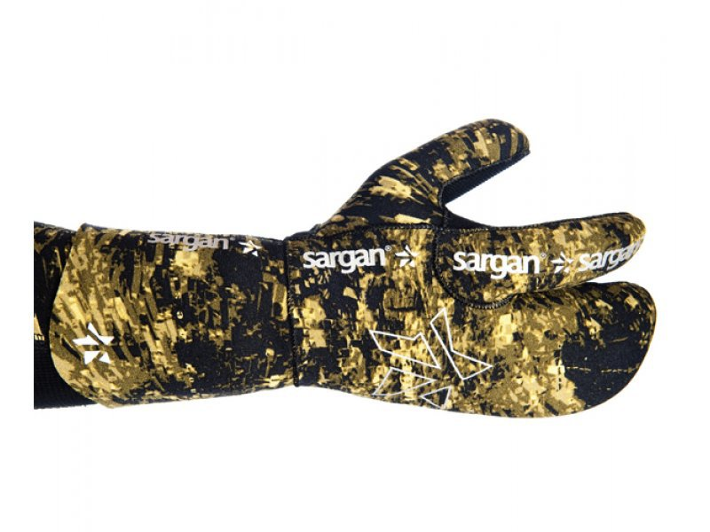 Рукавицы трехпалые Sargan Мечта пианиста камо rd2.0 - 7 мм