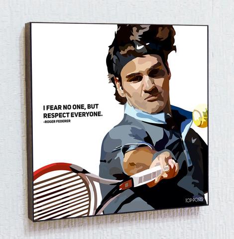 Картина постер Роджер Федерер в стиле ПОП-АРТ
