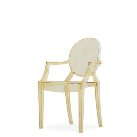 Стул-кресло Louis by Kartell (прозрачный/желтый)