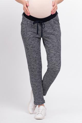 Спортивные брюки для беременных 10079 синий меланж