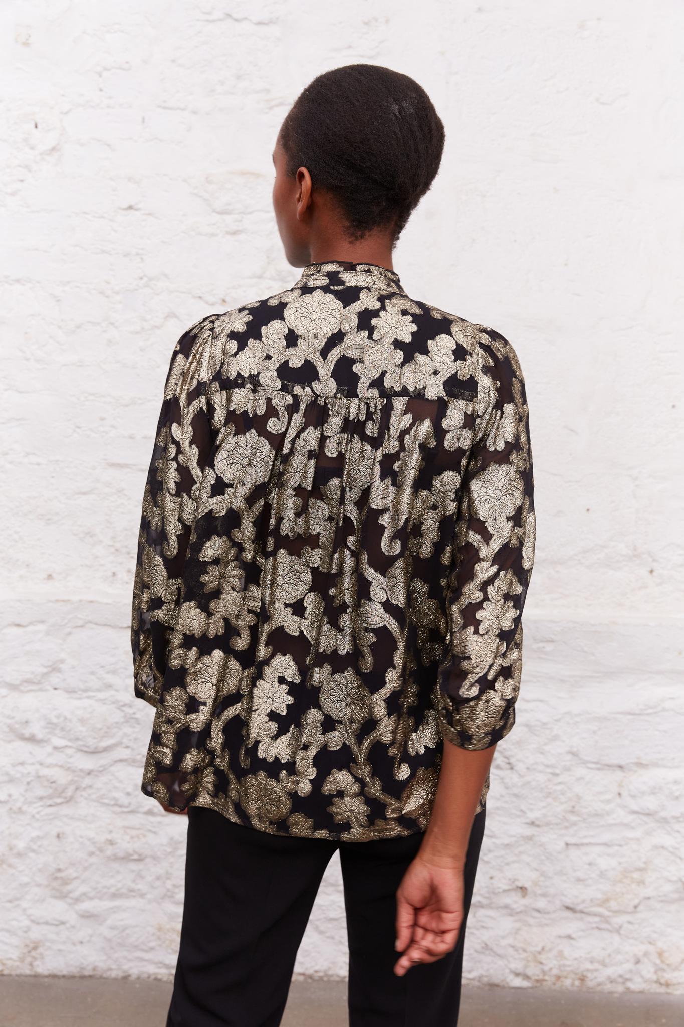 CAMELLIA - Жаккардовая блуза с цветочным принтом