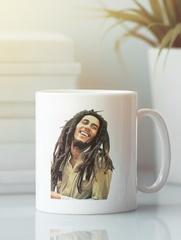 Кружка с рисунком Боб Марли (Bob Marley) белая 008