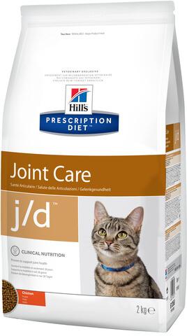 купить хиллс Hill's™ Prescription Diet™ Feline j/d™ Joint Care with Chicken сухой корм для взрослых кошек, диетический рацион при суставных заболеваниях 2 кг