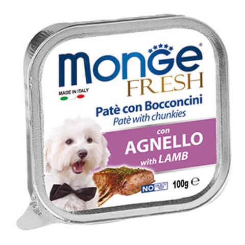купить консервы Monge Fresh with Lamb Паштет из мяса ягненка для взрослых собак всех пород