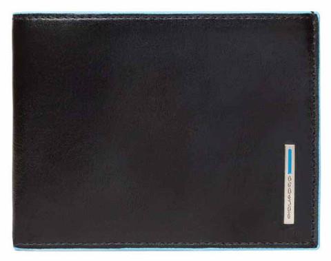 Кошелек Piquadro Blue Square, черный, 12,5х9,5х1,5 см