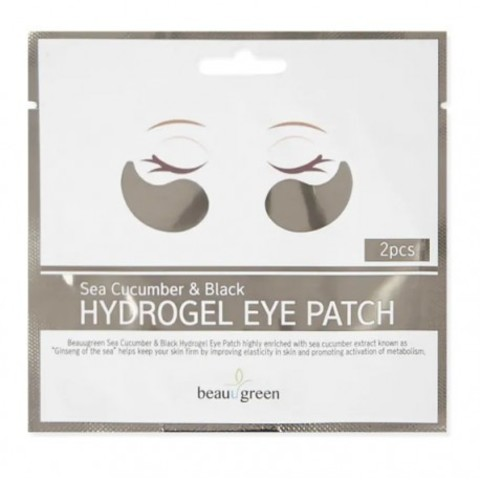 Гидрогелевые патчи для глаз BeauuGreen с экстрактом чёрного морского огурца (1 пара)