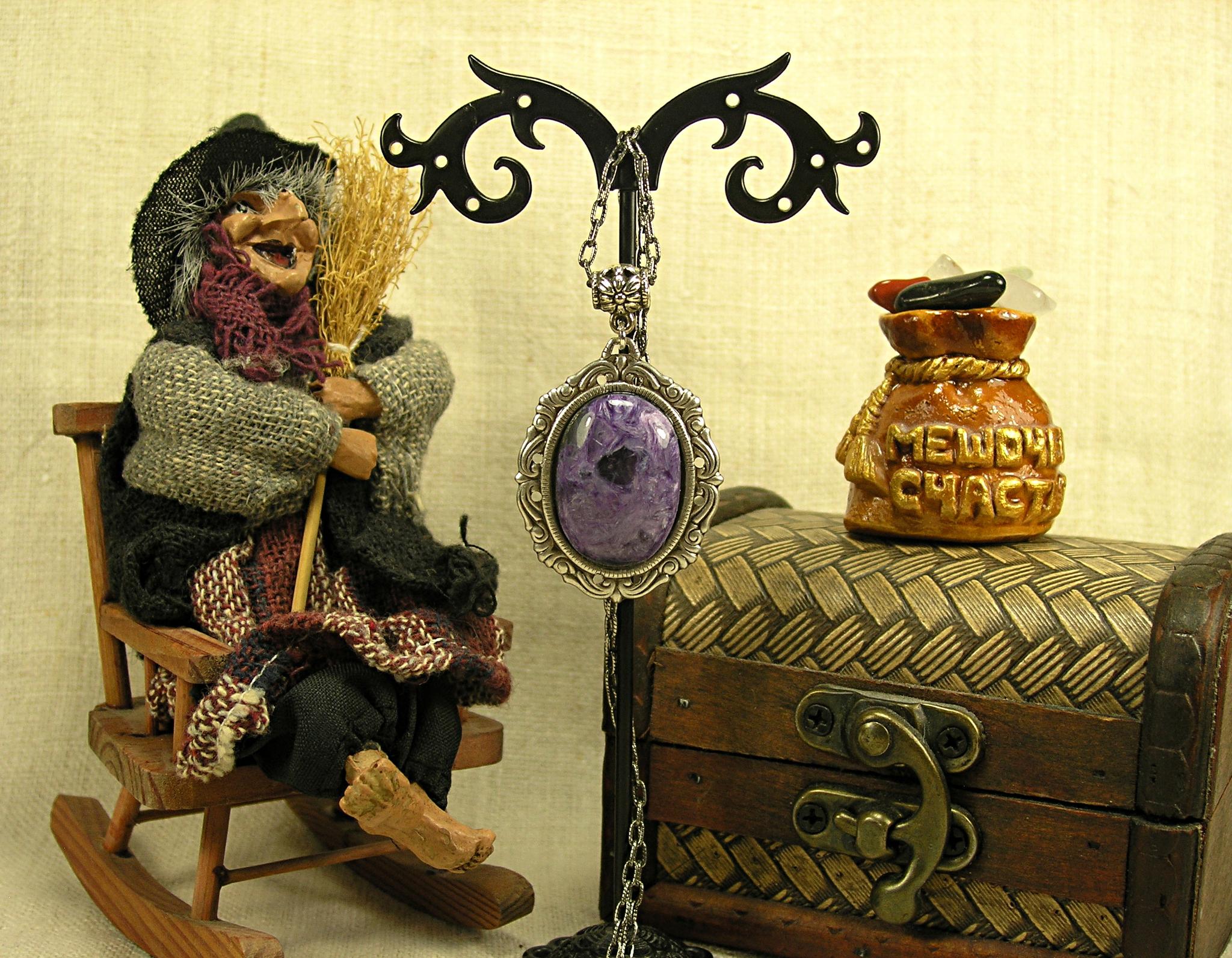 Коллекция «Волшебный камень». Подвеска «Чароит для волшебниц»
