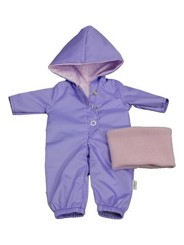 Комбинезон с баской - Сиреневый. Одежда для кукол, пупсов и мягких игрушек.