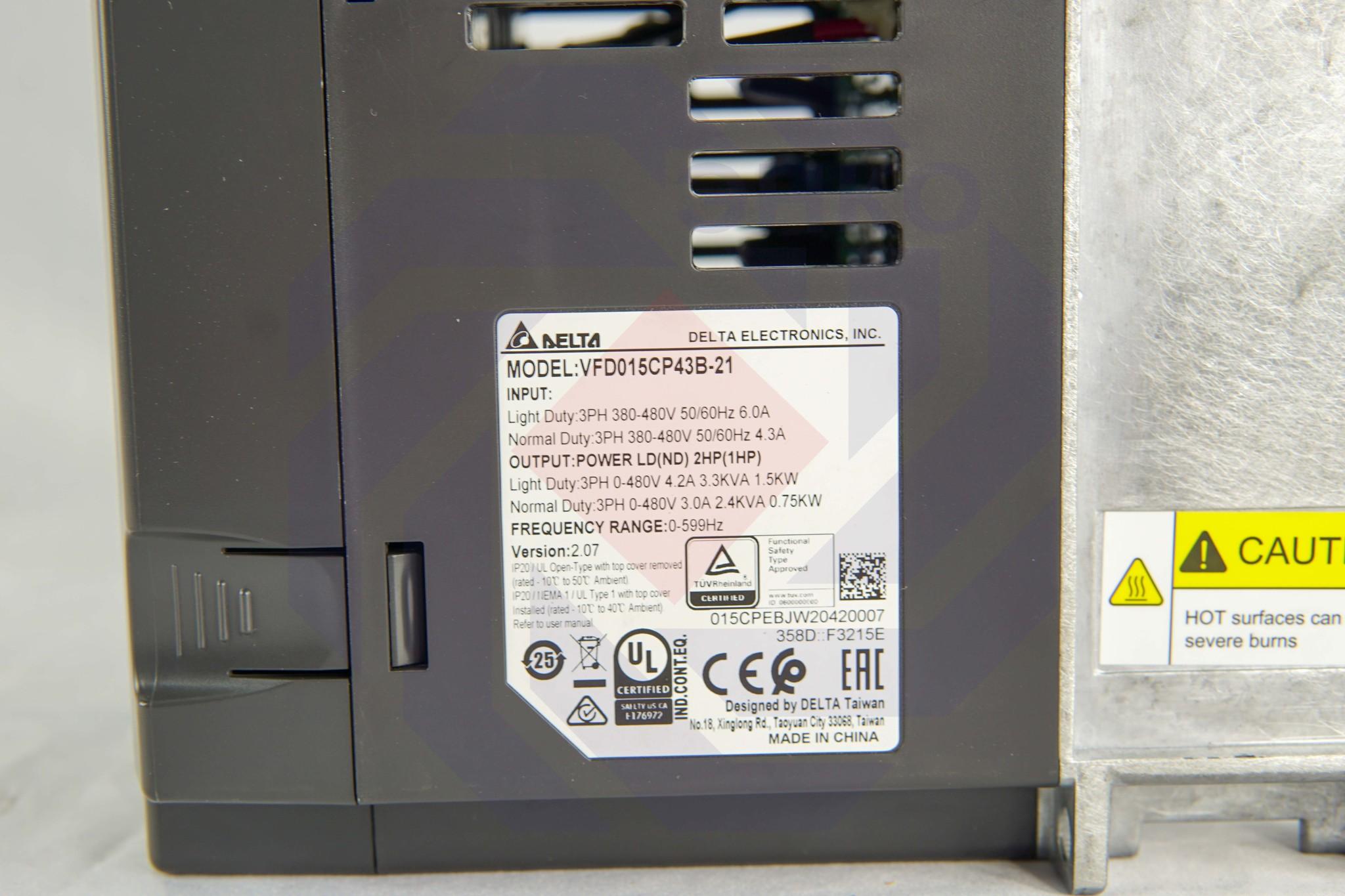 Преобразователь частоты DELTA CP2000 1,5 кВт