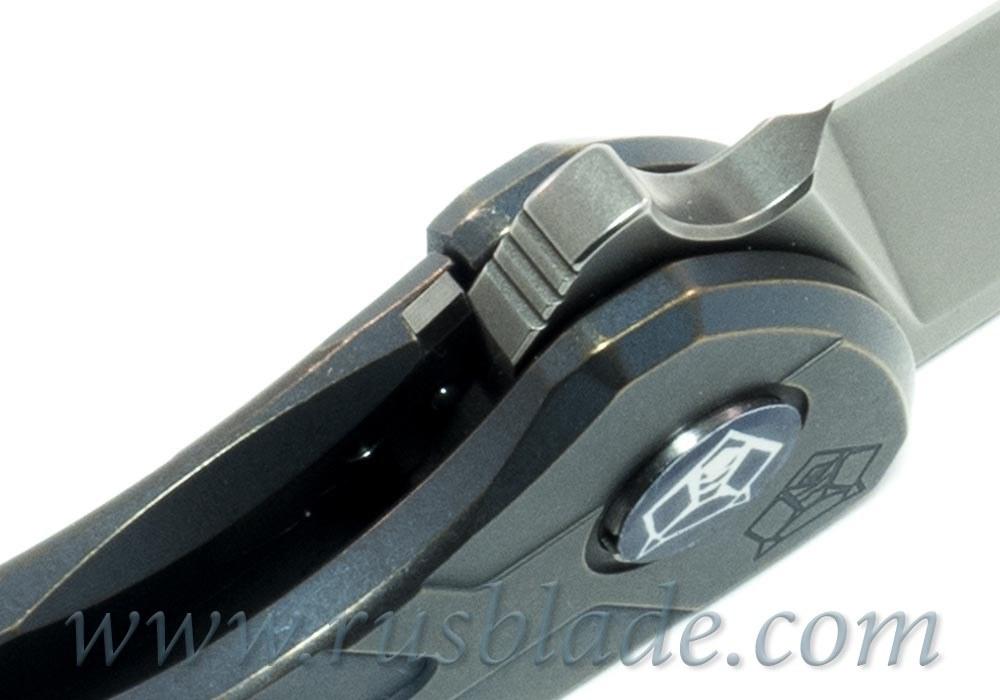Shirogorov Flipper 95 М390 FS T-mode Blue Anodized - фотография