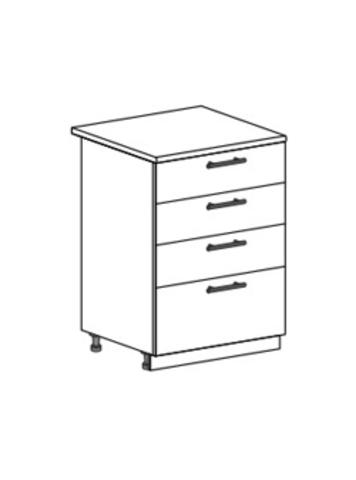Шкаф нижний с 4 ящиками