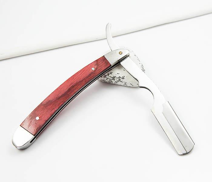 RAZ336-2 Бритва шаветка для сменных лезвий с деревянной ручкой