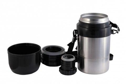 Термос универсальный (для еды и напитков) Амет DU Дорожный (1,25 литра) на ремне