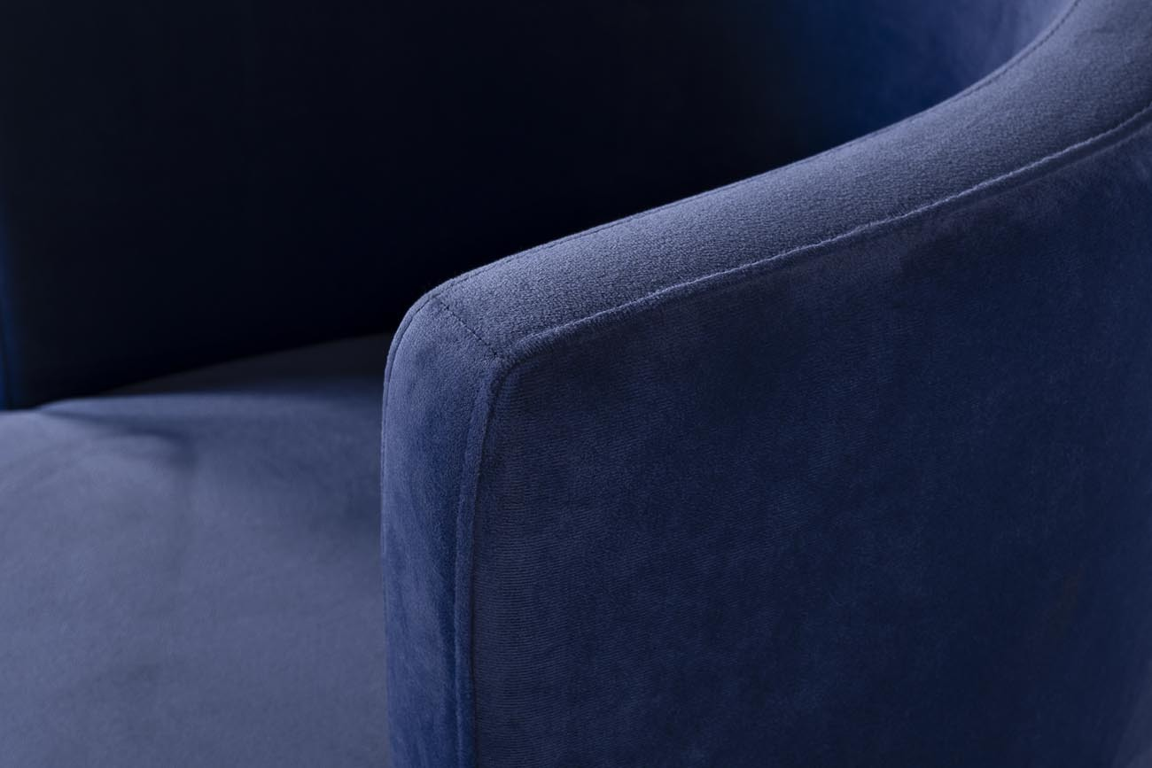 Стул 76AR-612-DB велюр темно-голубой/темный хром 58*59*78см