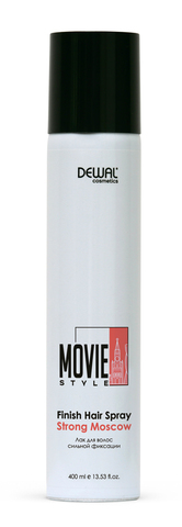 Лак для волос Dewal Cosmetics  (DC50002) сильной фиксации Movie Style Finish hair spray Strong Moscow 400 мл