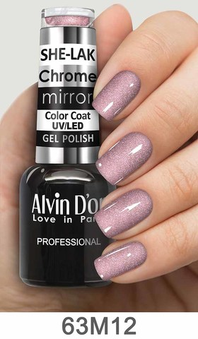 Alvin D`or Лак для ногтей SHE-LAK Chrome mirror  тон 6312 -8мл