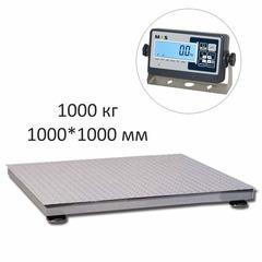 Купить Весы платформенные MAS PM4P-1000-1010, LCD, АКБ, 1000кг, 200гр, 1000х1000, RS-232 (опция), стойка (опция), с поверкой, выносной дисплей. Быстрая доставка