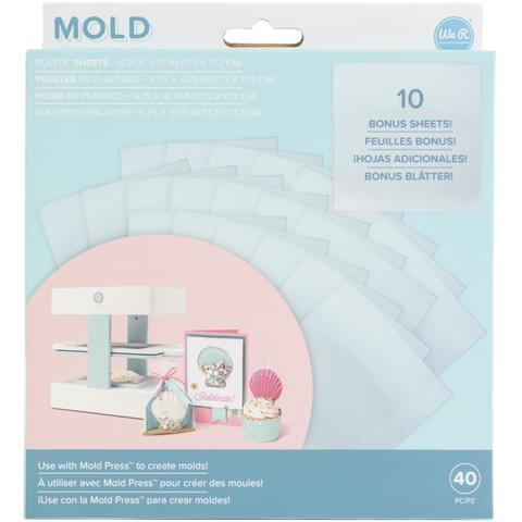 Пластик для молд Mold Press Plastic Sheets -Clear-40 шт