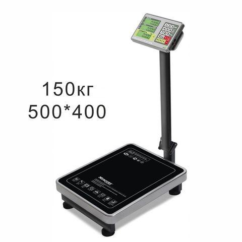 Весы торговые напольные Mertech M-ER 335ACP-150.20 TURTLE, 150кг, 20гр, 500*400, с поверкой, складная стойка